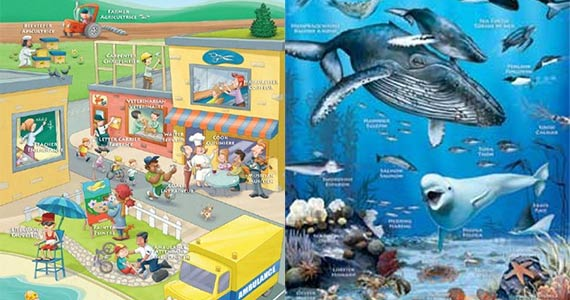 Free Bilingual Kids Educational Posters