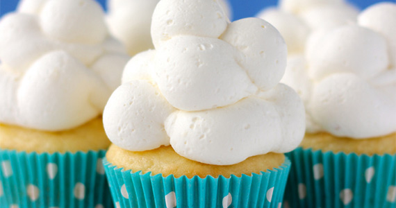 How to Make Cloud Cupcakes