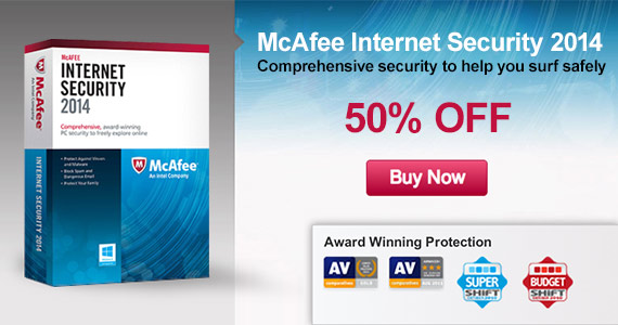 Get McAfee For 50% Off Right Now