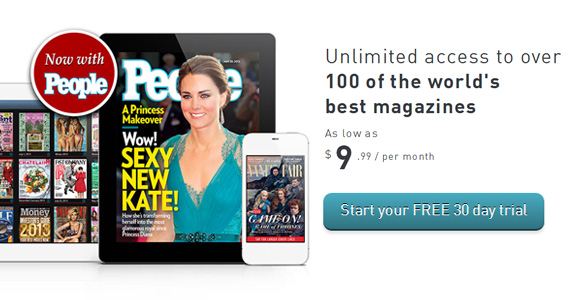 One Month Free of Unlimited Online Magazines