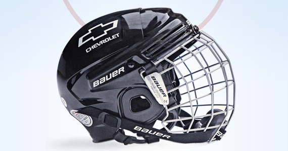 Free Bauer Hockey Helmet from Chevrolet