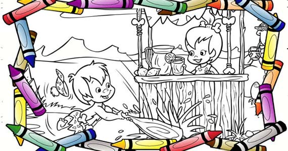 Free Flintstones Colouring Pages