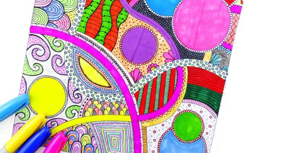 Free Abstract Colouring Pages