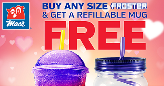 Feb 15-21- Free Froster Mug from Mac's