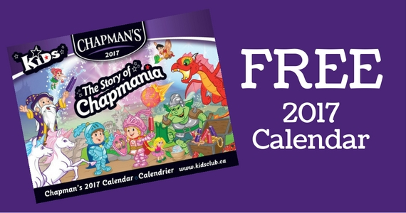 Free Chapman's 2017 Calendar