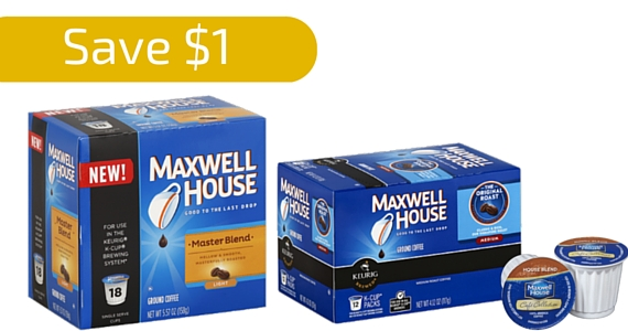 Save $1 Off Maxwell House Keurig Pods