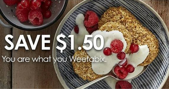 Save $1.50 on a box of Weetabix