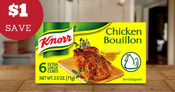 Save $1 off Knorr Bouillon Cubes