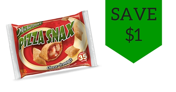 Save $1 on Michelina's Pizza Snax