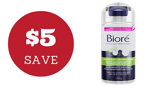 Save $5 Off Bioré Baking Soda Cleansing Scrub