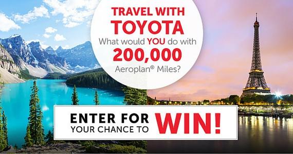 Win 200,000 Aeroplan Miles from Toyota
