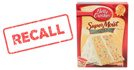 Betty Crocker Cake Mix Recall