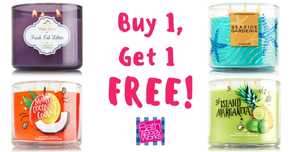 Get a Free Bath & Body Works 3-Wick Candle