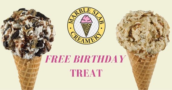 Get Marble Mail and a Sweet Treat on your Birthday from Marble Slab