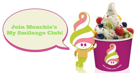 Get a Birthday Freebies with Menchie's Smileage Club