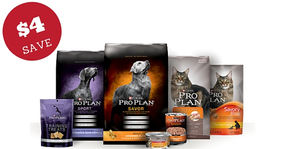 Save $4 on Purina Pro Plan Pet Food