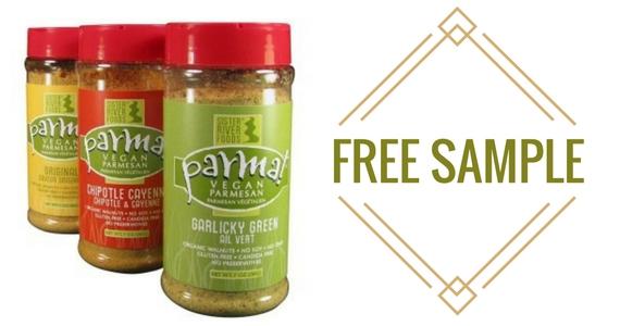 Free Sample Parma! Vegan Parmesan