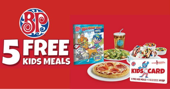 Get 5 Free Kids Meals at Boston Pizza