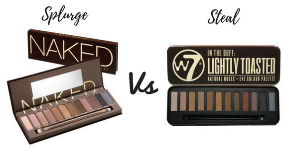 Splurge vs Steal: Urban Decay Naked vs W7 Lightly Toasted Eyeshadow Palette