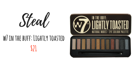 W7 In the buff: Lightly Toasted Eyeshadow Palette