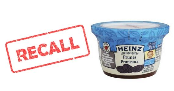 Heinz Strained Prunes Recall