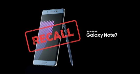 Samsung Galaxy Note 7 Urgent Recall
