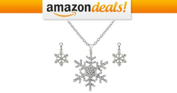 Get an Ever Faith Silver Snowflake Set For $17.99