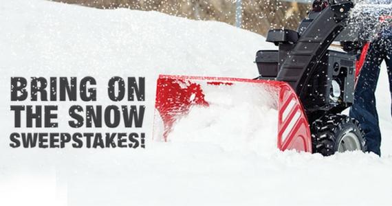 Win a Troy-Bilt Snow Thrower