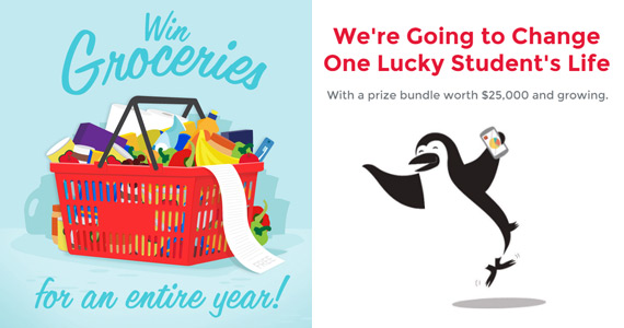 Win $25,000 in prizes with Canada's Luckiest Student