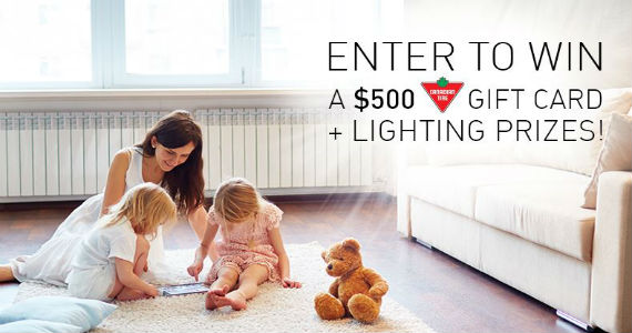 Win a $500 Canadian Tire Gift Card & a Sylviana Lighting Prize