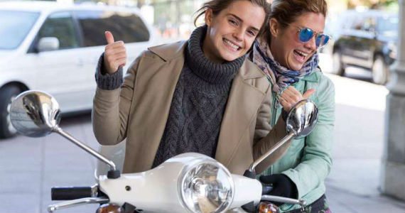 Emma Watson Gets a Personal Tour on a Vespa with Sophie Grégoire Trudeau