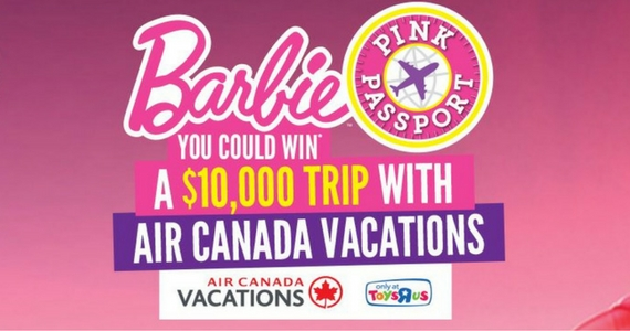 Win a $10,000 Air Canada Vacations Certificate or Barbie Prize Packs