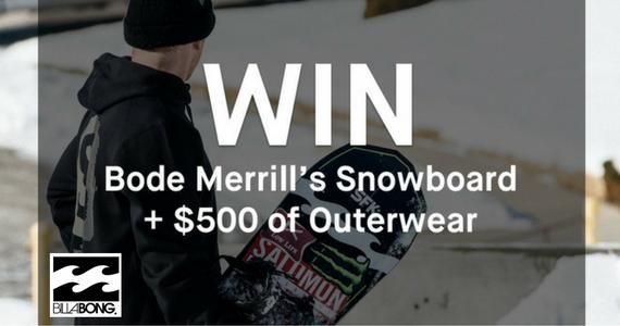 Win a $500 Billabong Voucher & a Mens Bode Merrill's Snowboard