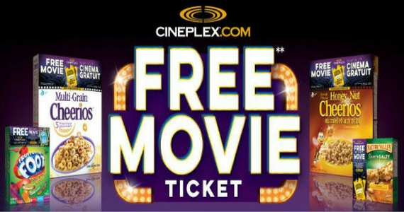 Free Movie Ticket from General Mills