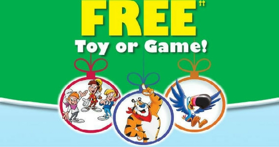 Get a Free Toy or Game from Kelloggs