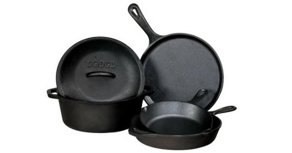 Win a Lodge 5-Piece Cast Iron Cookware Set
