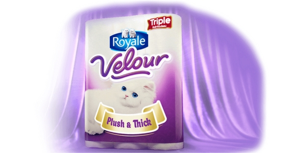 Save 75¢ off Royale Velour Bathroom Tissue