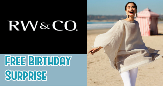 Become a RW&CO Member For A Birthday Freebie
