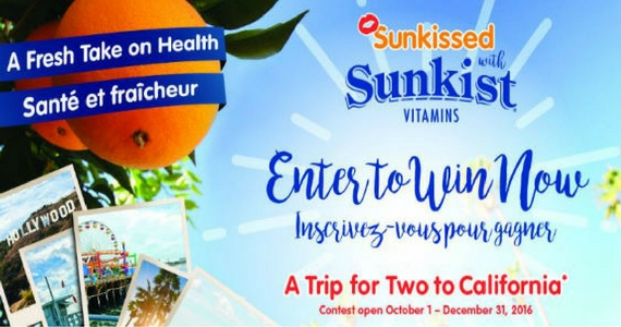 Win a Trip to California with Sunkist