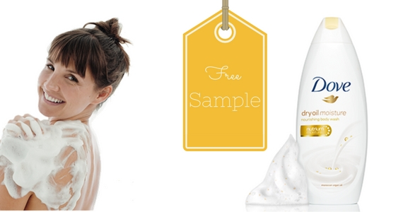 Free Sample of Dove Dry Oil Moisture Body Wash