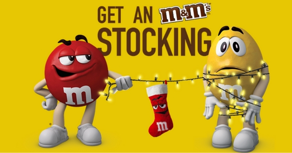 Get a Free M&M's Stocking with UPCs