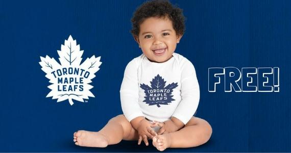 Free Toronto Maple Leafs Lil' Leafs Bodysuit