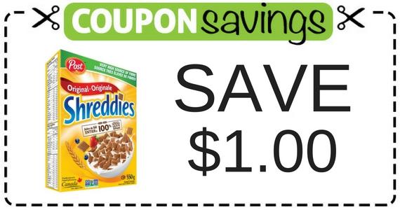 Save $1 on Honey Shreddies Cereal