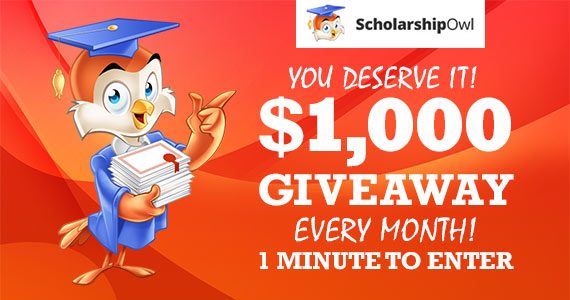 Win $1,000 from ScholarshipOwl