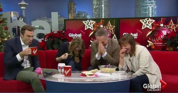 "Reporter's Holiday Dip Makes Co-Hosts ""Choke"" On Air"