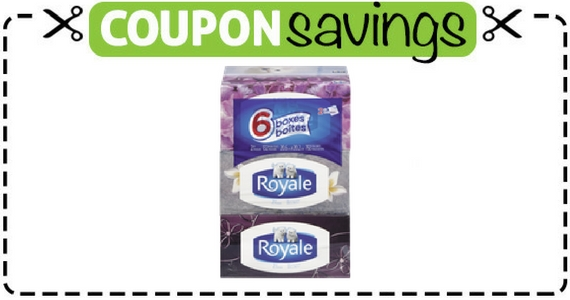 Save 75¢ off Royale Facial Tissue