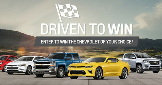 Win a 2017 Chevrolet of Your Choice