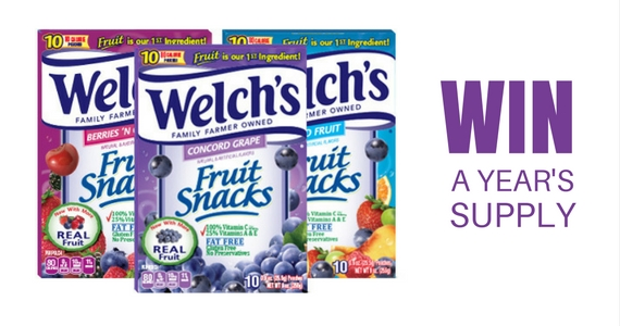 Win $1,000 and A Year's Supply of Welch's Fruit Snacks