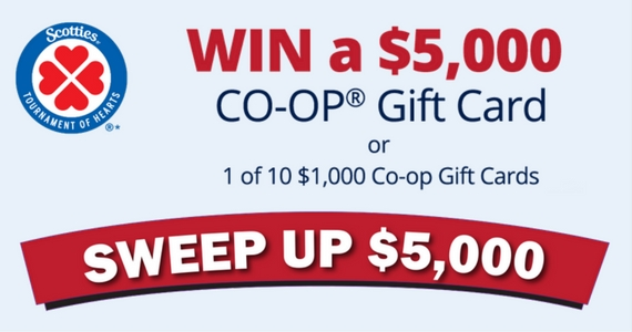 Win a $5000 CO-OP Gift Card