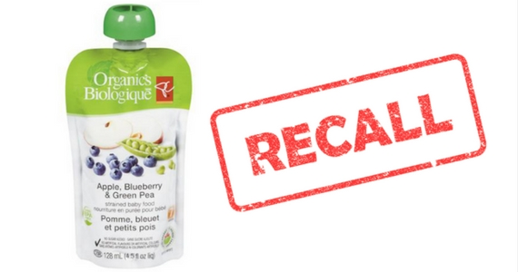 PC Organics Strained Baby Food Recall